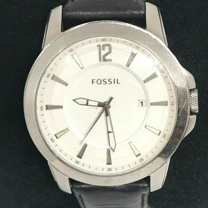Fossil Men's Analog Leather White Dial Watch Bb838